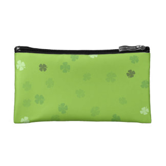Lucky Clovers Green Cosmetics Bags