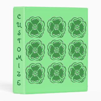 "Lucky Clovers Green Custom Mini 1"" Binder"