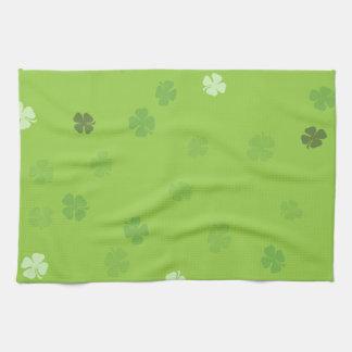 Lucky Clovers Green Kitchen Towels