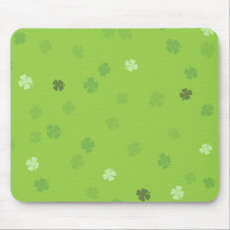 Lucky Clovers Green Mouse Pad