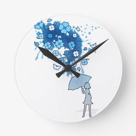 Lucky_Clovers Reloj Redondo Mediano