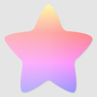 Lucky colour combinations' template star sticker