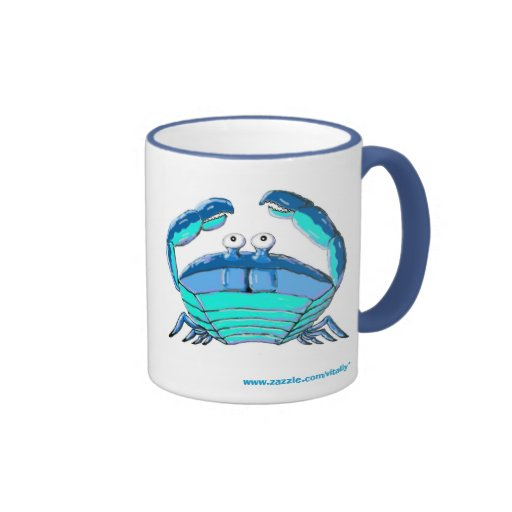 Lucky crab horoscope sign mug