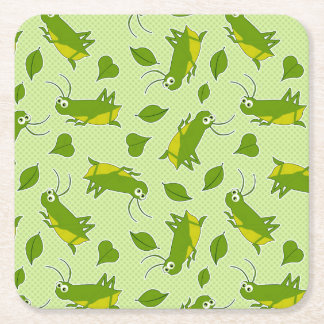 Lucky Cricket Pattern Square Paper Coaster