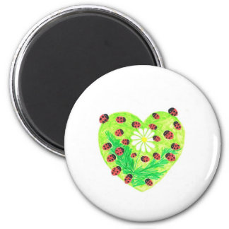 Lucky Daisy Creations 2 Inch Round Magnet