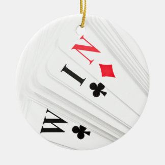Lucky deal. ceramic ornament