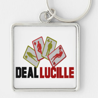 Lucky Deal Lucille Playing Cards Keychain