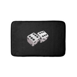 Lucky Dice black Bath Mat