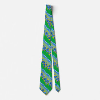 Lucky Dice - Blue and Green Tie