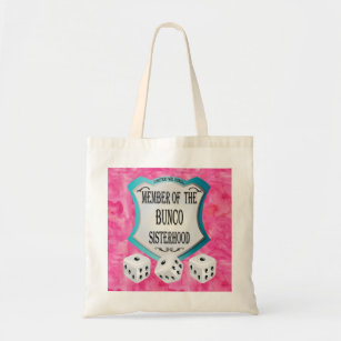 439c83890a2b Lucky Dice Pink United We Roll Tote Bag