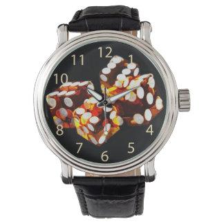 lucky dice roll wrist watch