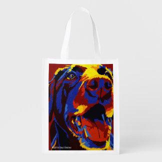Lucky Dog carries your stuff Reusable Grocery Bag