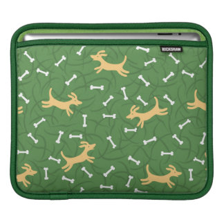 lucky dogs with bones background iPad sleeve