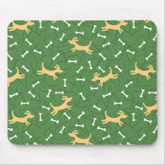 lucky dogs with bones background mousepad