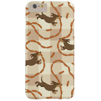 lucky dogs with sausages background barely there iPhone 6 plus case