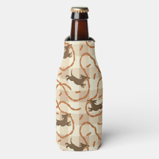 lucky dogs with sausages background bottle cooler