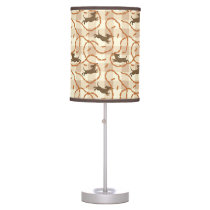 lucky dogs with sausages background desk lamp