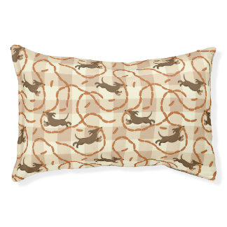 lucky dogs with sausages background dog bed