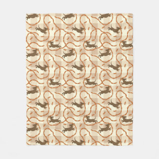 lucky dogs with sausages background fleece blanket