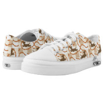lucky dogs with sausages background Low-Top sneakers