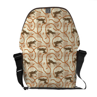 lucky dogs with sausages background messenger bag