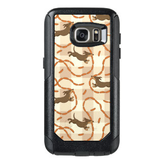 lucky dogs with sausages background OtterBox samsung galaxy s7 case