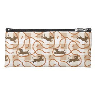 lucky dogs with sausages background pencil case