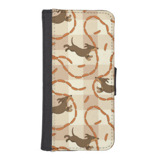 lucky dogs with sausages background iPhone 5 wallets