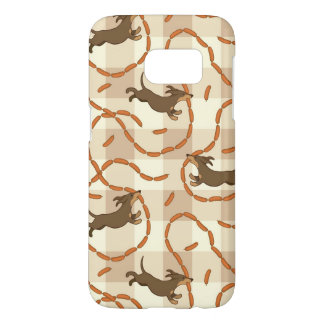 lucky dogs with sausages background samsung galaxy s7 case