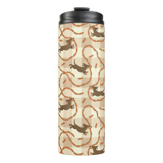 lucky dogs with sausages background thermal tumbler