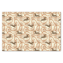 lucky dogs with sausages background tissue paper