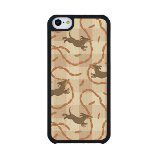 lucky dogs with sausages background carved® maple iPhone 5C case