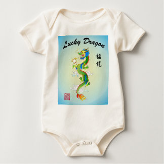 Lucky Dragon infant organic 1-piece Baby Bodysuit