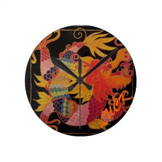 Lucky Dragon Round Clock
