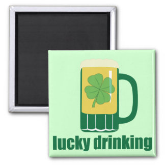 Lucky Drinking St. Patrick's Day Magnet