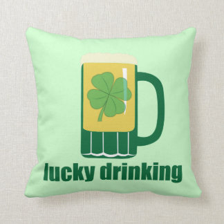 Lucky Drinking St. Patrick's Day Pillow