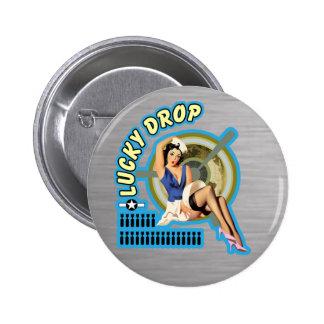 Lucky Drop WWII Nose Art Button