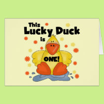Lucky Duck 1st Birthday  T-shirts and Gifts Card