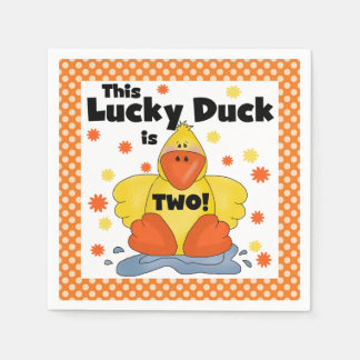 Lucky Duck 2nd Birthday Paper Napkins