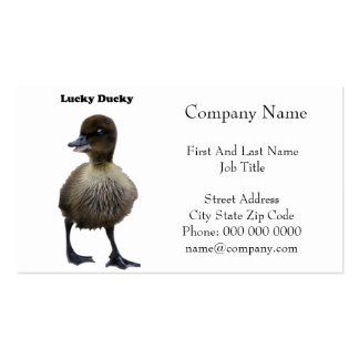 Lucky Duck Funny Duckling Photo Business Card