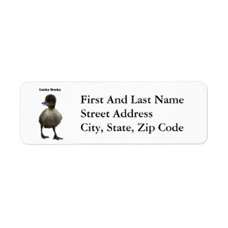 Lucky Duck Funny Duckling Photo Labels