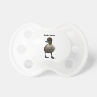 Lucky Duck Funny Duckling Photo Baby Pacifiers