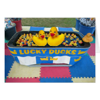 Lucky Ducks Greeting Card