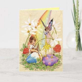 Lucky Easter Eggs zazzle_card