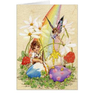 """Lucky Easter Eggs"" Card"