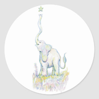 Lucky Elephant Classic Round Sticker