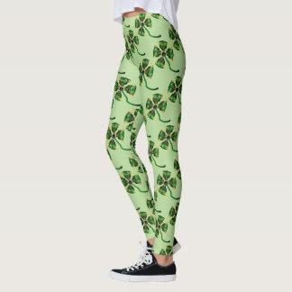 Lucky Emerald Clover Leggings