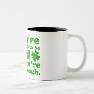 LUCKY ENOUGH IRISH GRUNGE Two-Tone COFFEE MUG