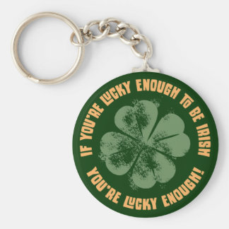 Lucky Enough Keychain