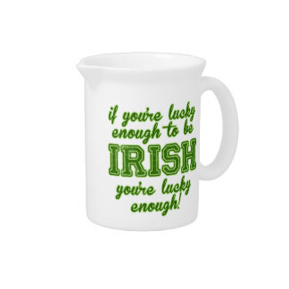 Lucky Enough to be Irish Beverage Pitcher